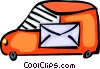 Vector Clipart illustration  of a Courier Services