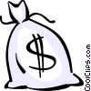 Money Bags Vector Clipart graphic
