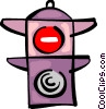 Vector Clipart illustration  of a Traffic Signals