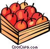 Apples in basket Vector Clip Art image