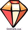 Vector Clip Art image  of a Precious Stones