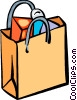 Vector Clip Art graphic  of a Shopping Bags
