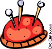 Pin Cushions Vector Clipart illustration