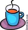 Cups of Coffee Vector Clip Art graphic
