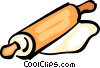 Vector Clip Art graphic  of a Rolling Pins