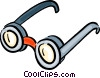 Vector Clip Art graphic  of a Glasses and Eyeglasses