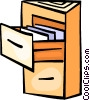 Vector Clipart image  of a Filing Cabinets