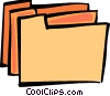 Vector Clipart graphic  of a File Folders