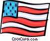 USA Flag Vector Clipart graphic
