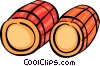 Wine Barrels Vector Clip Art graphic