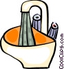 Vector Clipart picture  of a Sinks
