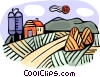 Vector Clipart illustration  of a Barns and Farms