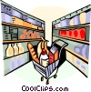 Grocery Store Items Vector Clip Art graphic