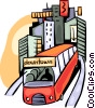 Vector Clipart illustration  of a Urban Transportation