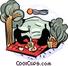 Picnics and Barbecues Vector Clip Art picture