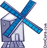 Vector Clipart picture  of a Dutch Windmills