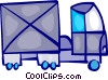 Transport Trucks Vector Clipart illustration