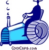 Vector Clipart picture  of a Tractors