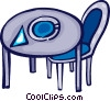 Vector Clip Art image  of a Tables and Counters