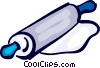 Vector Clipart illustration  of a Rolling Pins