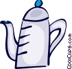Teapots Vector Clip Art graphic