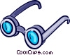 Vector Clip Art image  of a Glasses and Eyeglasses
