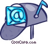 Vector Clip Art graphic  of a Mailboxes