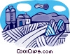 Vector Clip Art picture  of a Barns and Farms
