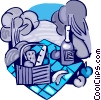 Vector Clip Art image  of a Picnics and Barbecues