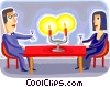 Vector Clipart graphic  of a Couples and Romance