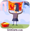Vector Clip Art picture  of a Laundry