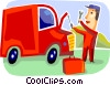 Auto Mechanics Vector Clipart illustration