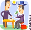 Restaurant scenes Vector Clipart picture