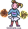 cheerleader Vector Clipart picture