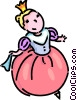 Vector Clipart picture  of a girl in a formal costume