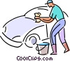 Vector Clipart picture  of a Car Wash