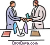 Shaking Hands Vector Clipart picture