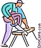 Vector Clip Art picture  of a Painting and Renovation