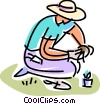 Gardeners Vector Clipart illustration