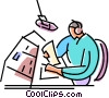 Vector Clip Art image  of a Disk Jockeys