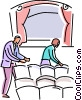 People going to their seats in the theatre Vector Clip Art picture