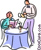 Vector Clipart picture  of a Restaurant scenes