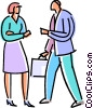 Vector Clipart image  of a business people greeting each