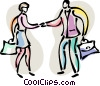 Vector Clip Art image  of a Shaking Hands