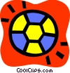 Vector Clipart graphic  of a Soccer Balls