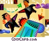 Teamwork and Cooperation Vector Clipart graphic