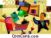 Shopping concept Vector Clip Art picture
