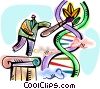 Vector Clip Art picture  of a DNA