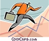 Vector Clip Art image  of a Businessman charting success