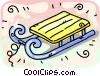 Vector Clipart illustration  of a toboggan